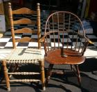 Open Arm Chair & Rope Bottom Side Chair