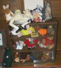 "Bookcase 32""x11""x32"" & Assorted Plush Toys"