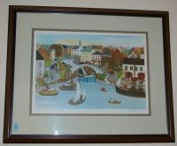 "Framed Print ""Lock #1"" By Will Moses #258/500 30""x25"""