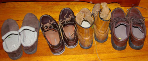 Assorted Boots, Shoes & Slippers Size 10 1/2 Wide