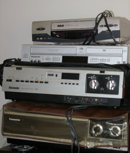 3 VCR's & VCR/DVD Combination