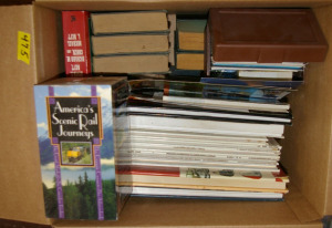 Box: Books, Postcards, VHS Tapes
