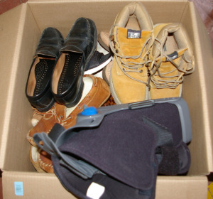 Box: Assorted Men's Shoes & Boots