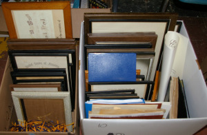 2 Boxes: Assorted Picture Frames