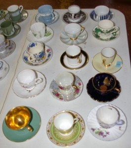 15 Assorted Collector's Porcelain Tea Cups & Saucers