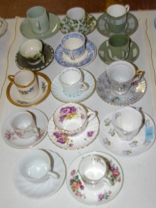 14 Assorted Collector's Porcelain Tea Cups & Saucers