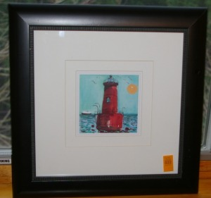 "Framed Print - Light House 14""x15"""