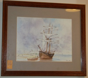 "Framed Print - Sailing Ship 13""x11"""