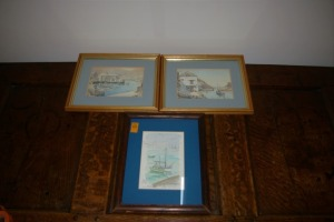 "3 Framed Prints 11""x9"""