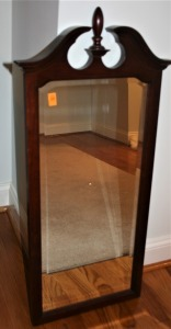"Mahogany Frame Bevel Edge Wall Mirror 16""x39"""