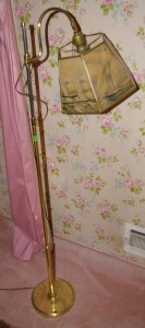 Brass Tone Floor Lamp