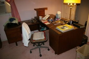 "30"" Deep Secretarial Desk W/Left Hand Return n & Swivel Desk Chair"
