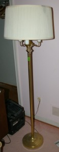 4 Light Brass Floor Lamp