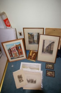 Assorted Framed and Unframed Vintage Prints