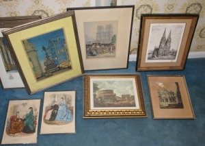 7 Framed Vintage Prints