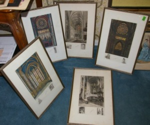 Set of 6 Framed Companion Prints - Cathedrals