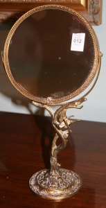 "Brass Shaving Mirror 13"" Tall"