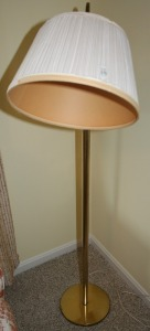 "Brass Floor Lamp 52"" Tall"