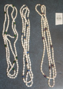 3 Strands - Fresh Water Pearls